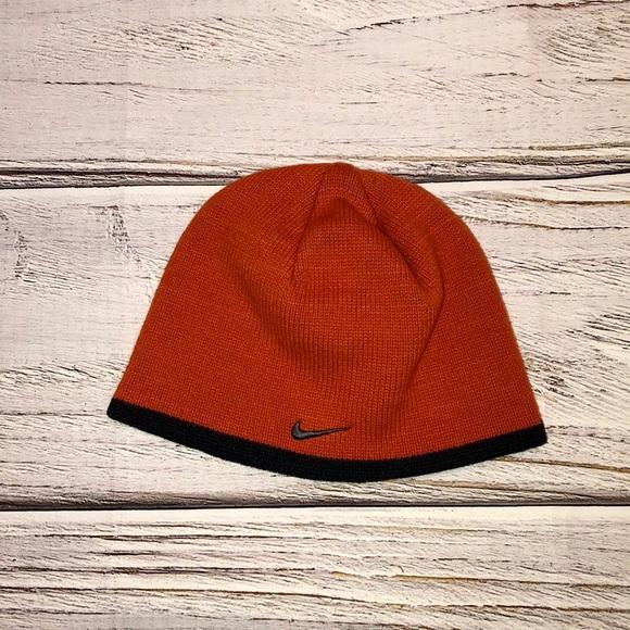 Nike Orange & Black Beanie